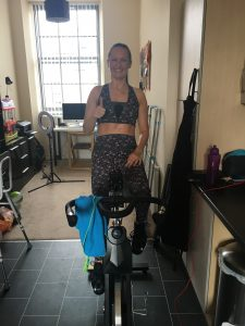 Anne Johnston on the JLL Fitness IC300 Pro Indoor Cycling Bike