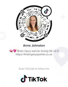 Scan this TikCode to follow Anne Johnston on TikTok