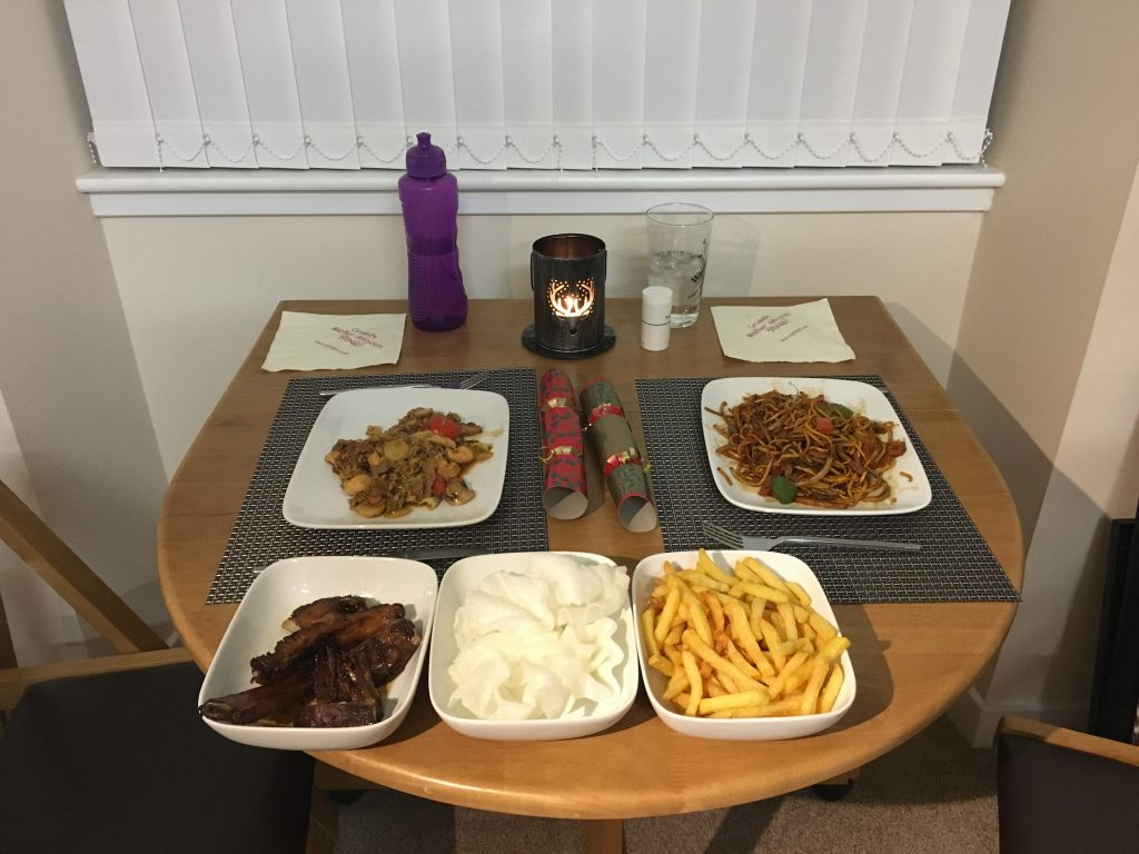 Chinese takeout for Christmas dinner