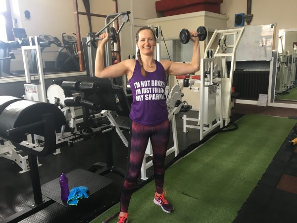 Anne Johnston in Results Gym, Forfar